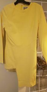 Yellow ASOS Asymmetrical Dress